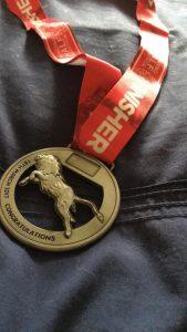 Reading half medal